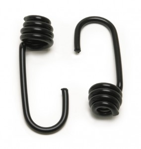 CargoBuckle coated stretch cord hooks in black are featured.