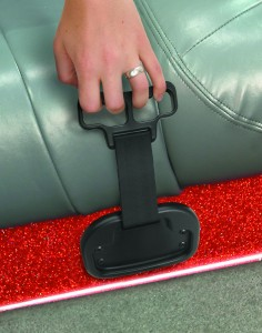 BoatBuckle grab handle is features which can retract out of the way when not in use.