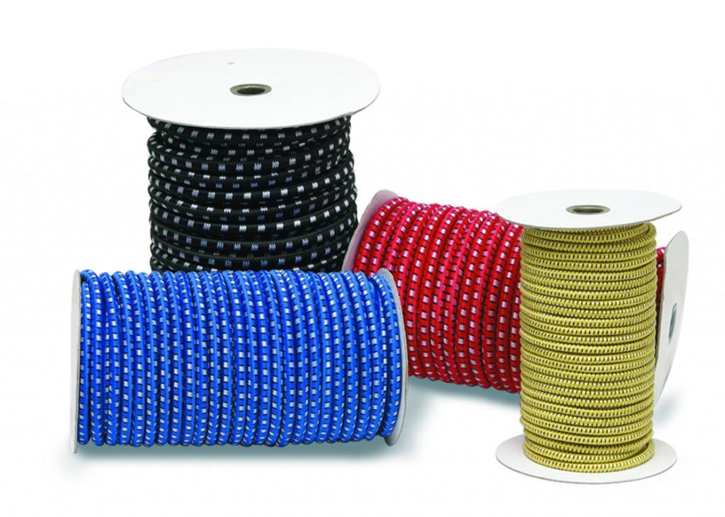 CargoBuckle stretch cord rolls are featured in a variety of sizes and colors.