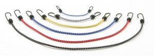 CargoBuckle mini stretch cords are shown in a wide variety of sizes and colors.